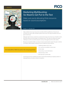 Marketing Mythbusting: Six Maxims Get Put to the Test