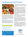 """Food Allergy Versus Food Intolerance"""