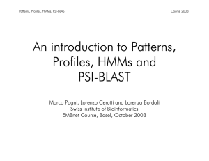 Patterns, motifs, PSI-BLAST