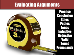 Evaluating Arguments Mini Units PPT