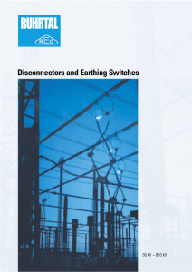 Disconnectors and Earthing Switches