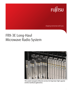 FRX-3E Long-Haul Microwave Radio System