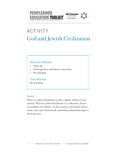 God and Jewish Civilization - The Center for Jewish Peoplehood