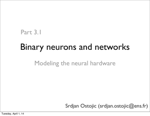 Binary neurons and networks