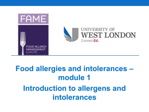 Food allergies and intolerances - here