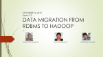 data migration from rdbms to hadoop