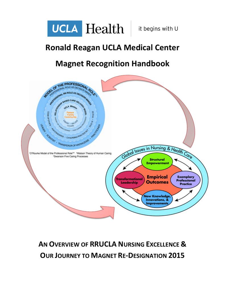 Ronald Reagan UCLA Medical Center Magnet Recognition Handbook for Nursing Professional Practice Model  181plt