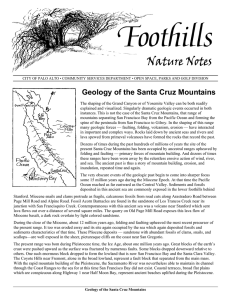 Geology of the Santa Cruz Mountains