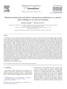 Thermal monitoring and indoor temperature predictions in a passive