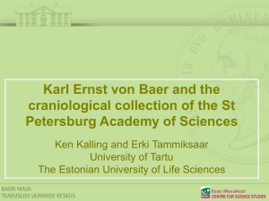 Karl Ernst von Baer and the craniological collection of the St