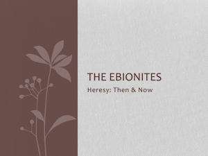 The Ebionites - Holy Spirit Anglican Church