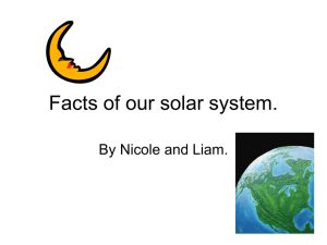 Facts of our solar system.