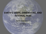 earth*s shape, dimensions, and internal heat