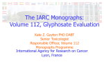 The IARC Monographs: Volume 112, Glyphosate