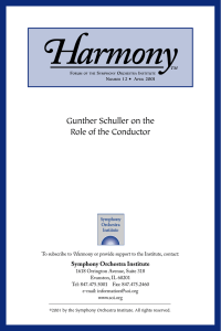 Gunther Schuller on the Role of the Conductor