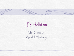 Buddhism… - World History CP2