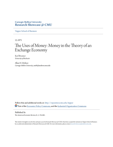 The Uses of Money: Money in the Theory of an Exchange Economy