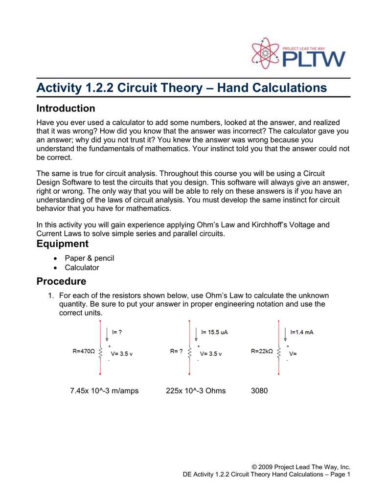 122a Circuit Theory Voltage In A Parallel