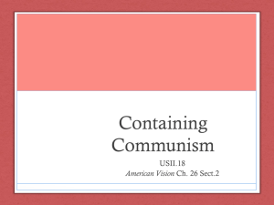 Containing Communism