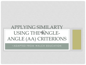 Applying Similarity Using the Angle
