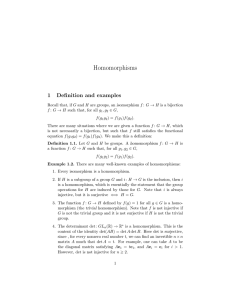 Homomorphisms - Columbia Math