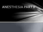 ANESTHESIA Part I - A
