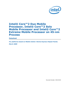 Intel® Core™2 Duo Mobile Processor, Intel® Core™2 Solo Mobile
