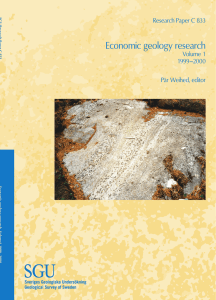 Economic geology research, volume 1 1999-2000