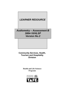 Audiometry–Assessment B–3064-10/HLSP