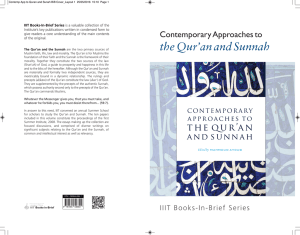 Contemporary Approaches to the Qur`an and Sunnah