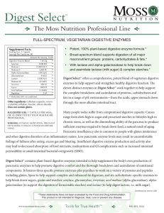 Digest Select - Moss Nutrition