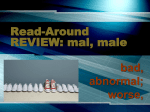 READ Around REVIEW. mal, male