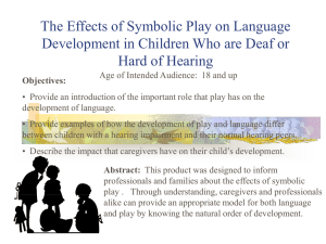 The Effects of Symbolic Play on Language