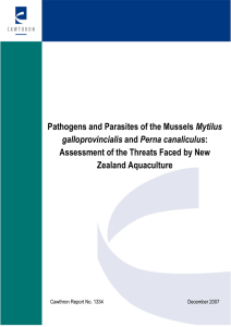 Pathogens and Parasites of the Mussels Mytilus