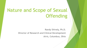 Nature and Scope of Sexual Offending