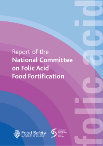 Report of the National Committee on Folic Acid Food Fortification