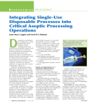 Integrating Single-Use Disposable Processes into Critical Aseptic