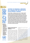 Access to Financial Services as a Driver for the Post-2015