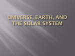 Universe, Earth, and The Solar System Characteristics of Stars