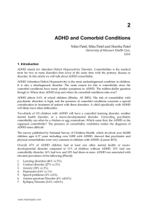 ADHD and Comorbid Conditions