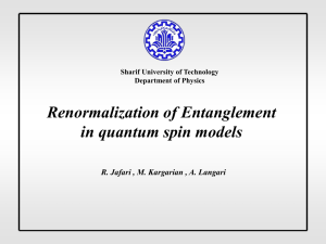 Renormalization of Entanglement