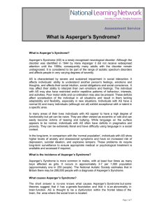 What is Asperger`s Syndrome?