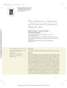 The Architecture, Chemistry, and Evolution of - Cin