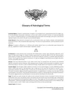 Glossary of Astrological Terms