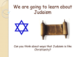 We are going to learn about Judaism - Easy