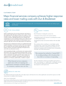 Major financial services company achieves higher response rates