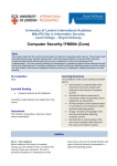 Computer security - University of London International Programmes