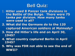 3. How did Hitler`s life end on April 30, 1945?