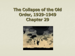 The Collapse of the Old Order, 1929
