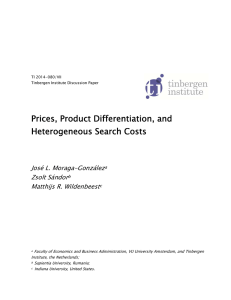 Prices, Product Differentiation, and Heterogeneous Search